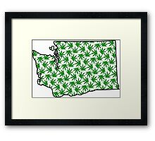 Washington (WA) Weed Leaf Pattern Framed Print
