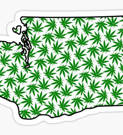 Washington (WA) Weed Leaf Pattern Sticker