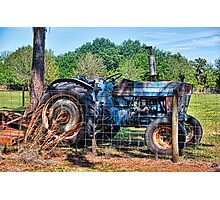 The Old Blue Workhorse Photographic Print