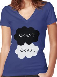 The Fault in Our Stars: Okay? Women's Fitted V-Neck T-Shirt