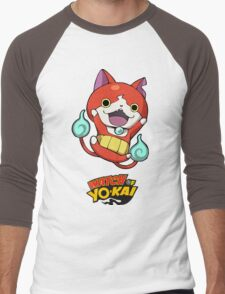 Yokai Watch :Jibanyan Men's Baseball ¾ T-Shirt