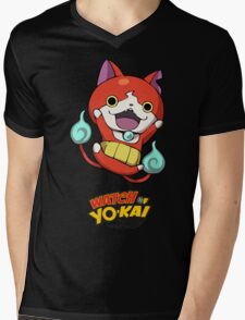 Yokai Watch :Jibanyan Mens V-Neck T-Shirt