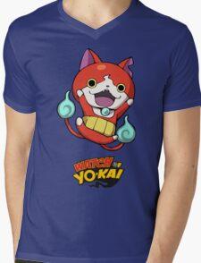 Yokai Watch :Jibanyan Mens V-Neck T-Shirt