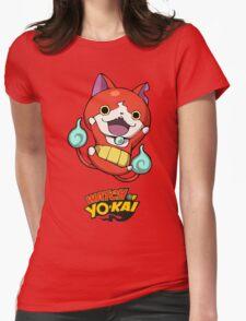 Yokai Watch :Jibanyan Womens Fitted T-Shirt