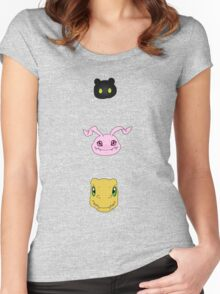 Agumon line Women's Fitted Scoop T-Shirt