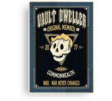 Vault Dweller - Original Member (No Border) Canvas Print