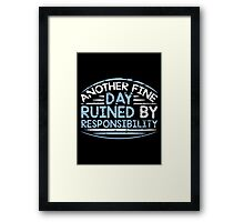 fine day Framed Print