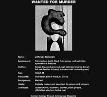Wanted: Jefferson Randolph Unisex T-Shirt
