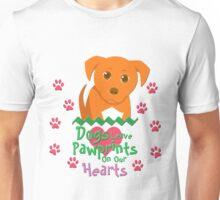 Dogs Leave Pawprints Unisex T-Shirt