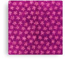 Vintage Floral Magenta Pink Canvas Print