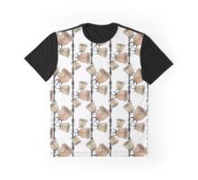 Texture seamless white background and beige flowers Graphic T-Shirt