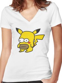 Pikahomer Women's Fitted V-Neck T-Shirt