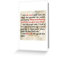 Lost Passage of the Bible from Good Omens Greeting Card
