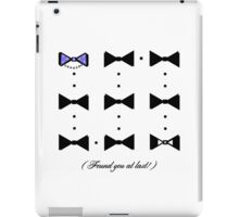 Found You At Last! (platinum bow tie tux) iPad Case/Skin