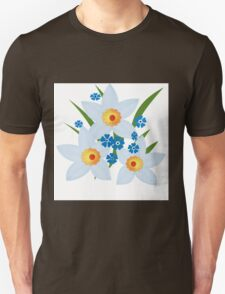 Illustration of daffodils, spring flowers. Unisex T-Shirt