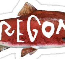 Oregon Sockeye Salmon Sticker