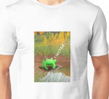 Frog croaking in the reeds Unisex T-Shirt