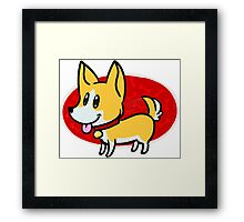 Cute Corgi Framed Print
