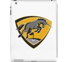 Black Unicorn Horse Charging Golf Course Retro iPad Case/Skin