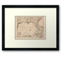 American Revolutionary War Era Maps 1750-1786 058 A map of East and West Florida Georgia and Louisiana with the islands of Cuba Bahama and the countries Framed Print
