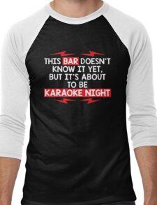bar night Men's Baseball ¾ T-Shirt