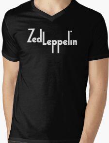 Zed Leppelin Mens V-Neck T-Shirt