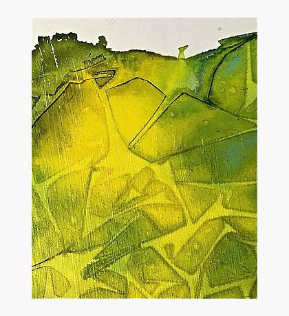 Cool Lime abstract Photographic Print