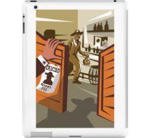 Cowboy Robber Stealing Saloon Poster iPad Case/Skin