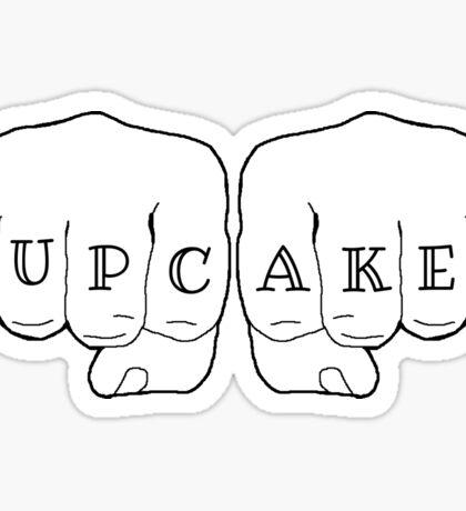Badass cupcakes fist tattoo Sticker