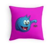 Cartoon play with Spider Throw Pillow