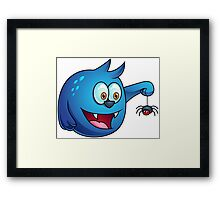 Cartoon play with Spider Framed Print