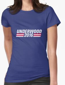 Francis Underwood Logo Womens Fitted T-Shirt