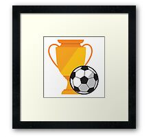 Soccer illustration, ball with cup Framed Print