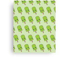 Green Popsicle Pattern  Canvas Print