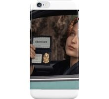 Dana Scully I Don't Care Sparkle iPhone Case/Skin