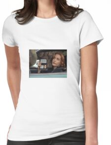 Dana Scully I Don't Care Sparkle Womens Fitted T-Shirt