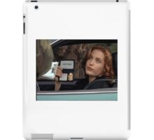 Dana Scully I Don't Care Sparkle iPad Case/Skin