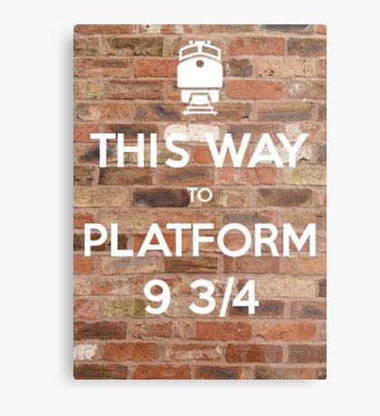 This way to Platform 9 3/4 Metal Print