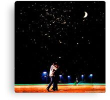 Mulder and scully baseball under the stars Canvas Print