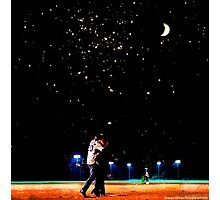 Mulder and scully baseball under the stars Photographic Print