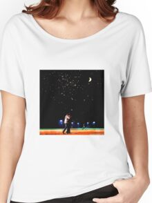 Mulder and scully baseball under the stars Women's Relaxed Fit T-Shirt