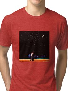 Mulder and scully baseball under the stars Tri-blend T-Shirt