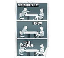 flat earth speed dating Poster