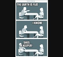 flat earth speed dating Unisex T-Shirt