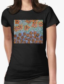 Asters and Paradise Flowers Womens Fitted T-Shirt