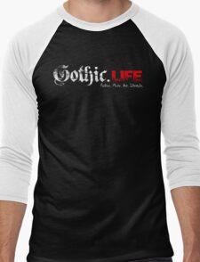 Gothic.Life Black (with tagline) Men's Baseball ¾ T-Shirt