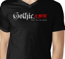 Gothic.Life Black (with tagline) Mens V-Neck T-Shirt