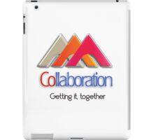 Collaboration, let's work together iPad Case/Skin