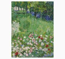 1890-Vincent van Gogh-Daubigny's garden-50,7x50,7 One Piece - Short Sleeve