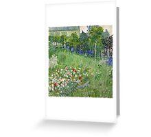 1890-Vincent van Gogh-Daubigny's garden-50,7x50,7 Greeting Card